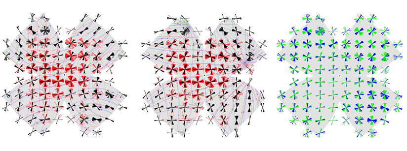 Rotatory and translatory visual vector fields